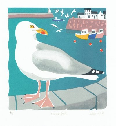 Herring Gull Print by Carry Akroyd