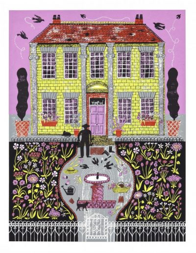Gardening the Mille Fleur Print by Alice Pattullo