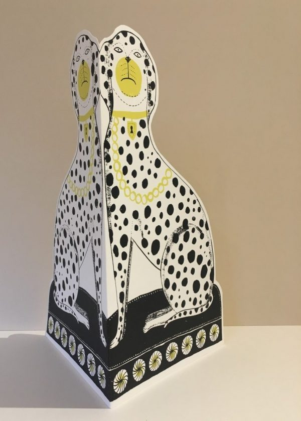 Dalmatian Cut Out Screenprint by Alice Pattullo