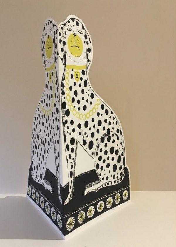 Dalmatian Cut Out Screenprint by Alice Pattullo