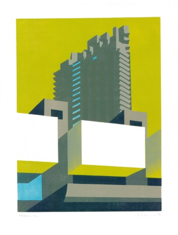 Barbican Lime Print by Paul Catherall