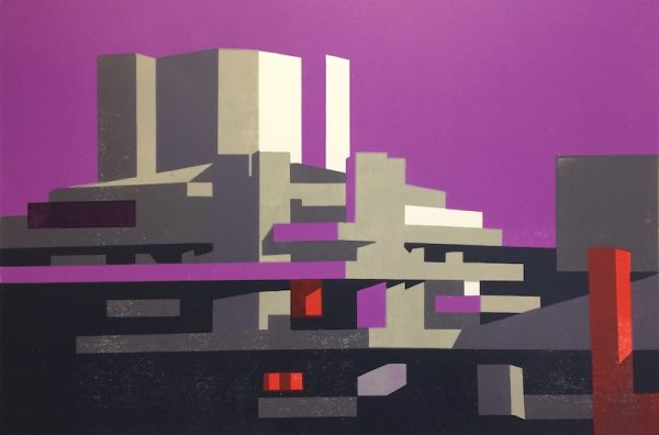 National Magenta Print by Paul Catherall
