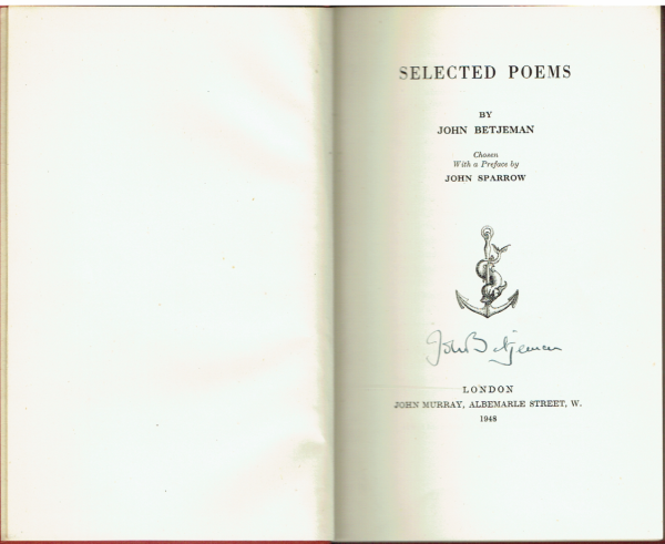 Selected Poems by John Betjeman (SIGNED)
