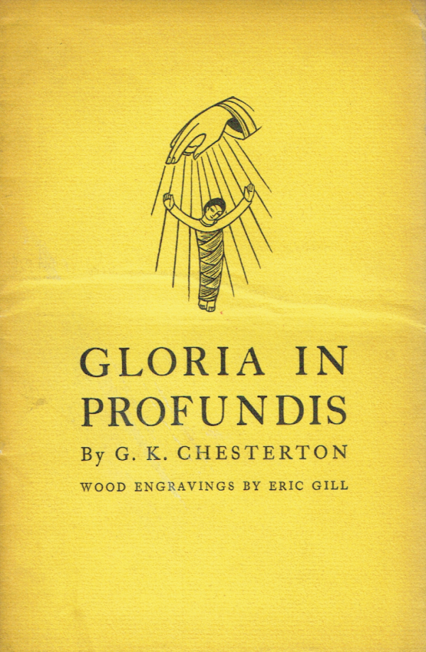 Gloria In Profundis. Wood Engraving By Eric Gill