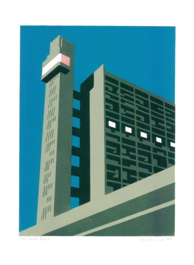 Trellick Blue Print by Paul Catherall