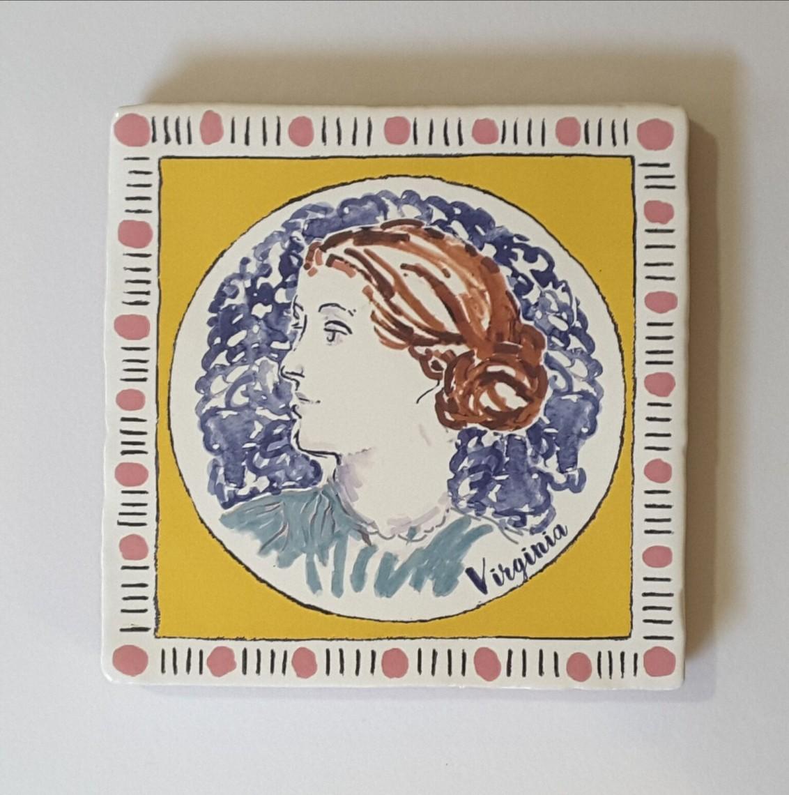 'Virginia Woolf' Tile: Bloomsbury Ceramics