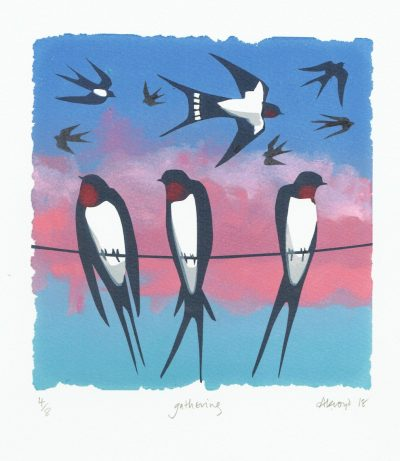 Gathering Print by Carry Akroyd