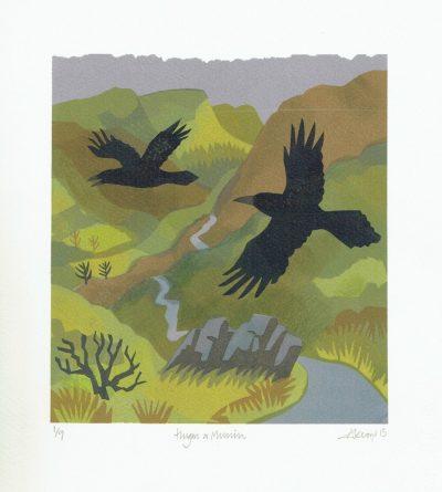 Hugin & Munin Print by Carry Akroyd
