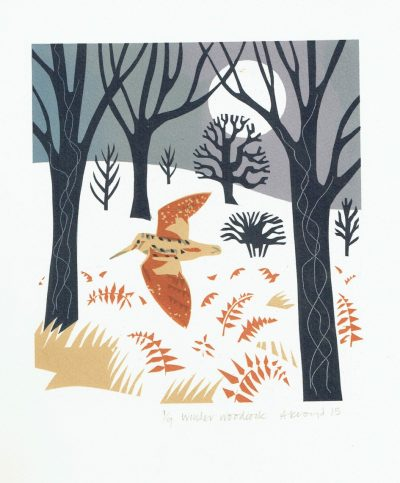 Winter Woodcock Print by Carry Akroyd