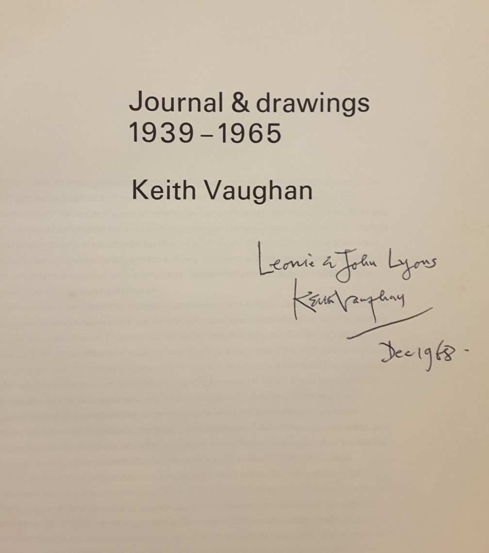 Keith Vaughan Signed