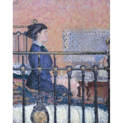 Girl Seated on a Bed