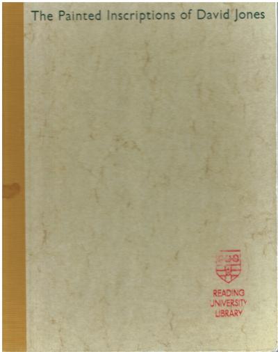 The Painted Inscriptions of David Jones