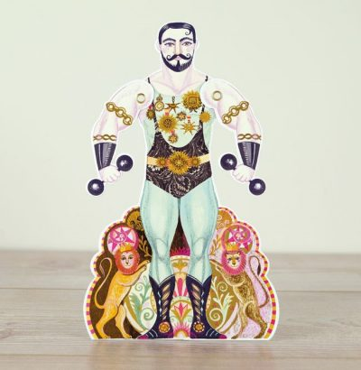 Alexander the Strongman Moving Card by Sarah Young