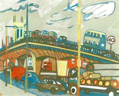 Hammersmith Flyover Print