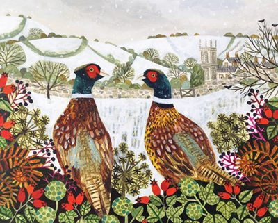 Pheasants SHeltering by Vanessa Bowman