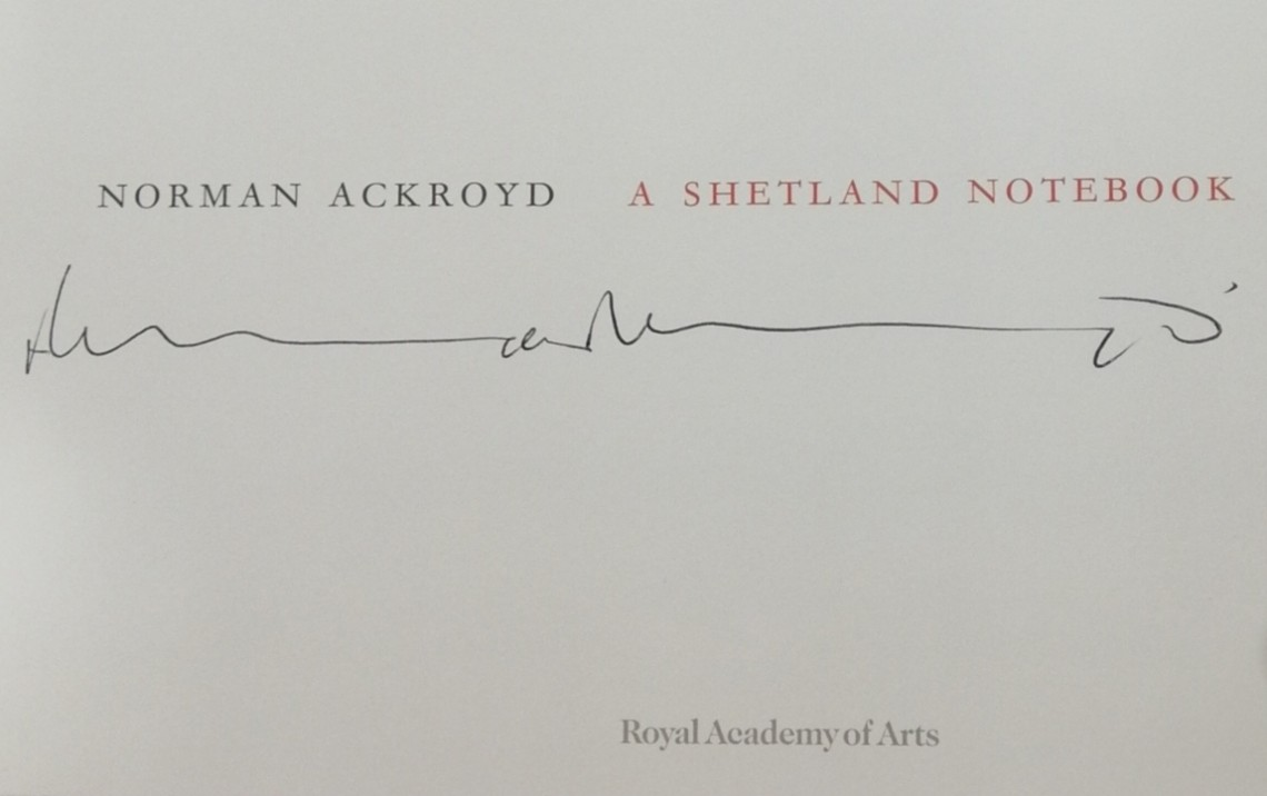 Shetland Notebook Signature