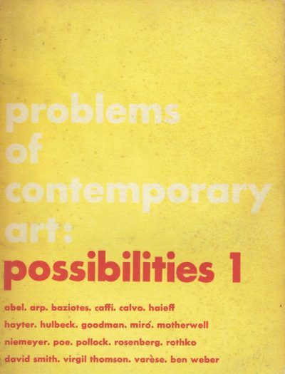 Problems of Contemporary Art