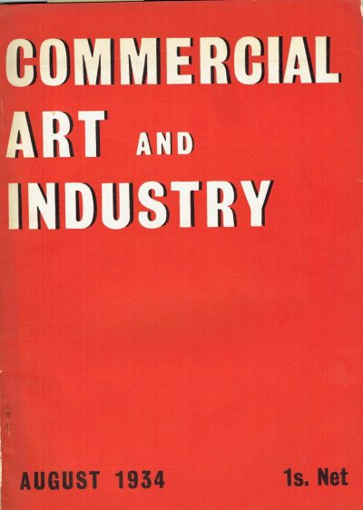 Commercial Art and Industry August 1934
