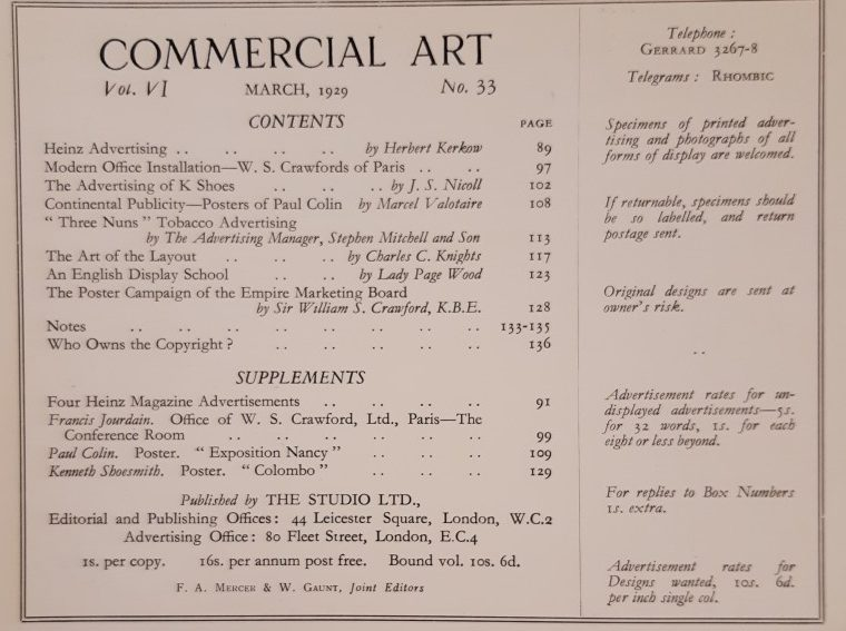 March 1929 Contents