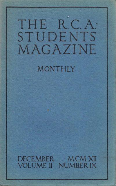 RCA Students Magazine Vol 2, No 9