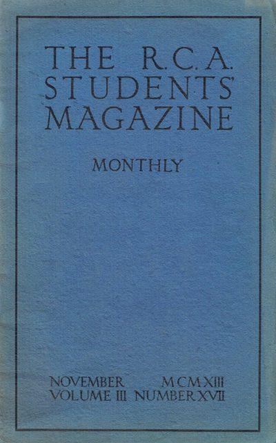 RCA Students Magazine Vol 3 No 17