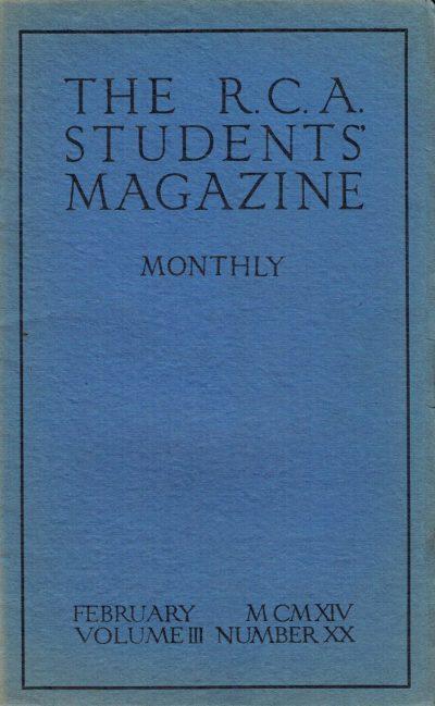 RCA Students Magazine Vol 3, No 20