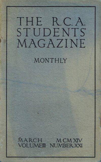RCA Students Magazine Vol 3, No 21