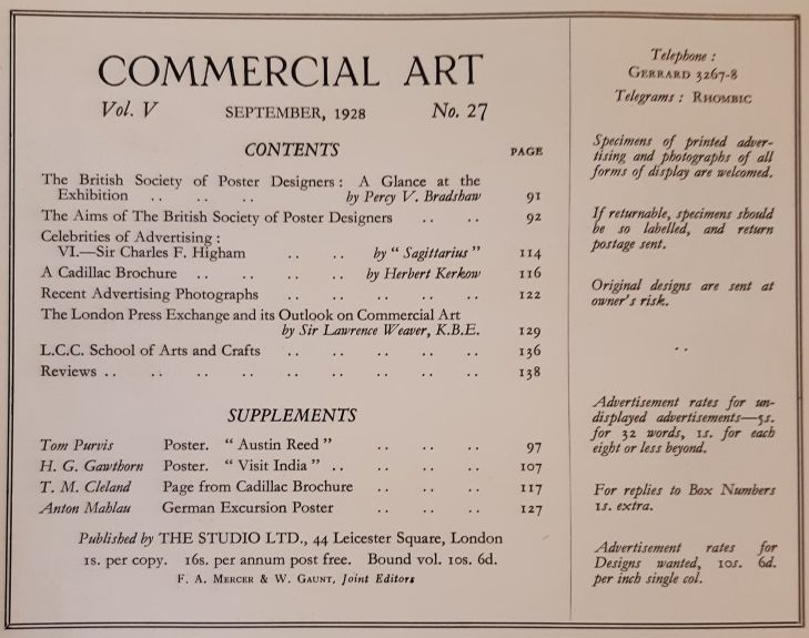 September 1928 Contents