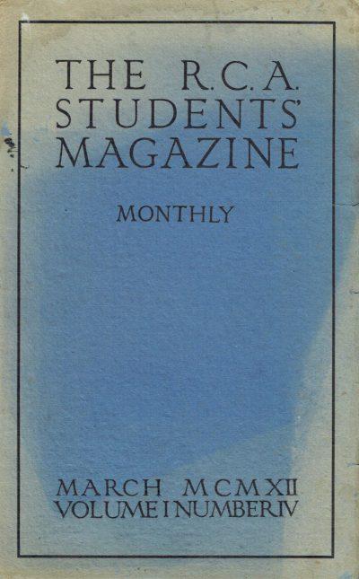 The RCA Students Magazine Vol 1 No 4