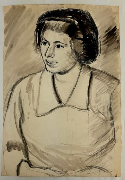 Portrait of Claudia by Barnett Freedman