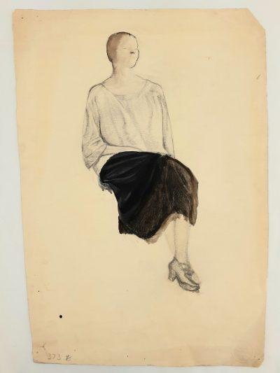 Portrait of a Seated Woman by Barnett Freedman