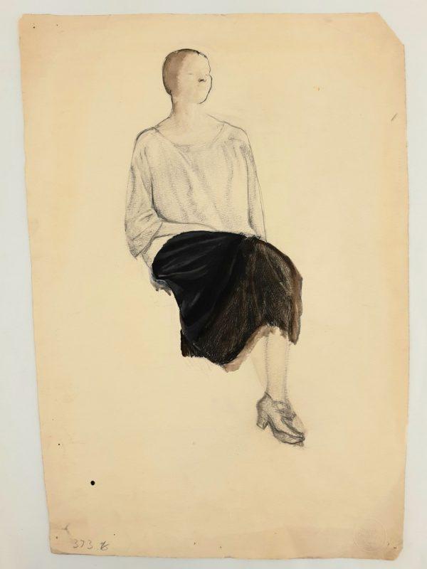 Portrait of a Seated Woman by Barnett Freedman