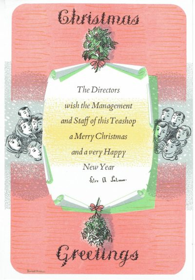 Christmas greetings by Barnett Freedman