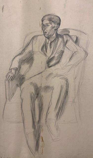seated man by barnett freedman