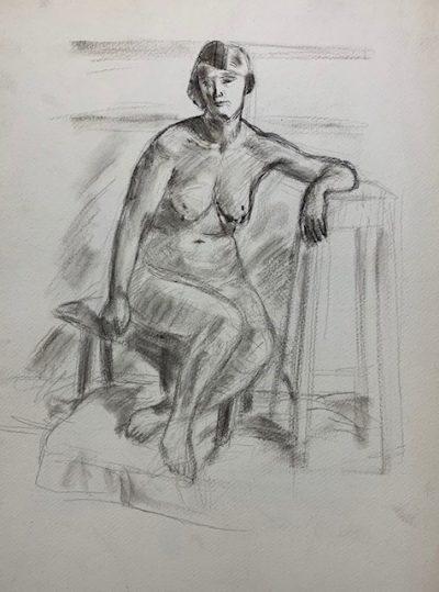 seated nude by barnett freedman