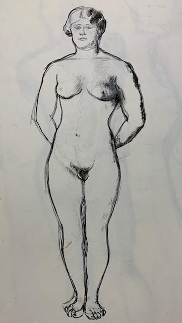 standing nude by barnett freedman