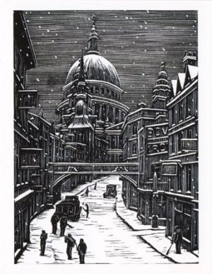 London Snow Christmas Card by Gwen Raverat (Pack of 5)