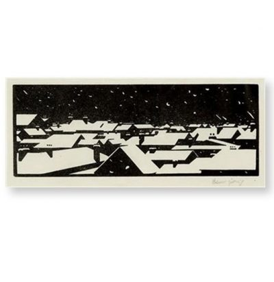 Dublin Under Snow Christmas Card by Robert Gibbings