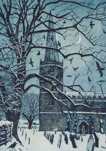 Still Snow, Masham Christmas Card by Janis Goodman (Pack of 10)