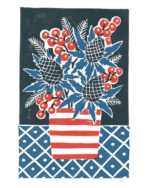 Thistle & Berries Christmas Card by Sophie Elm (Pack of 5)