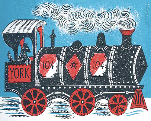 Train Christmas Card by Emily Sutton (Pack of 5)