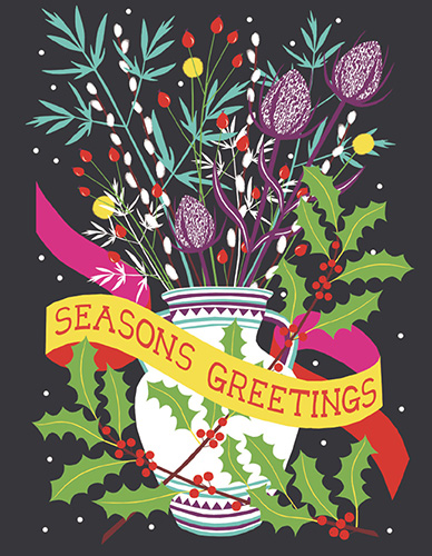 Seasons Greetings Card by Vicki Johnson (Pack of 5)