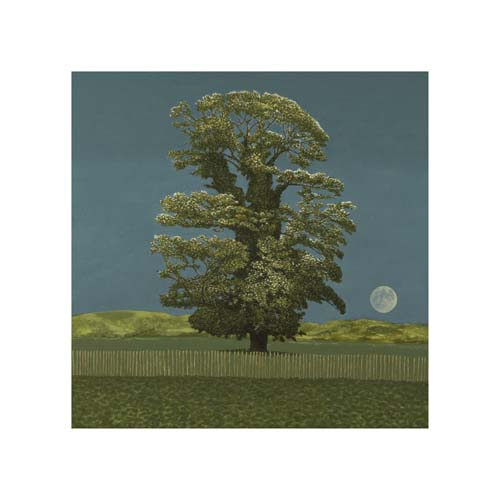 avebury tree and moon by david inshaw