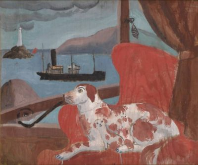 China dogs in a st ives window by christopher wood